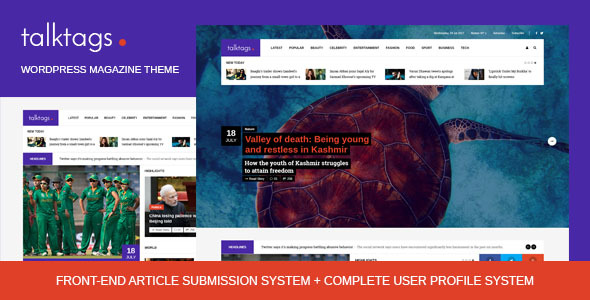 Talktags Preview Wordpress Theme - Rating, Reviews, Preview, Demo & Download