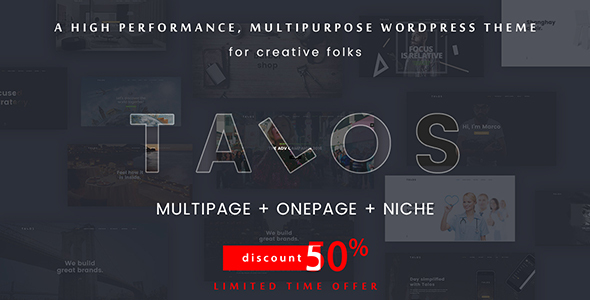 Talos Preview Wordpress Theme - Rating, Reviews, Preview, Demo & Download