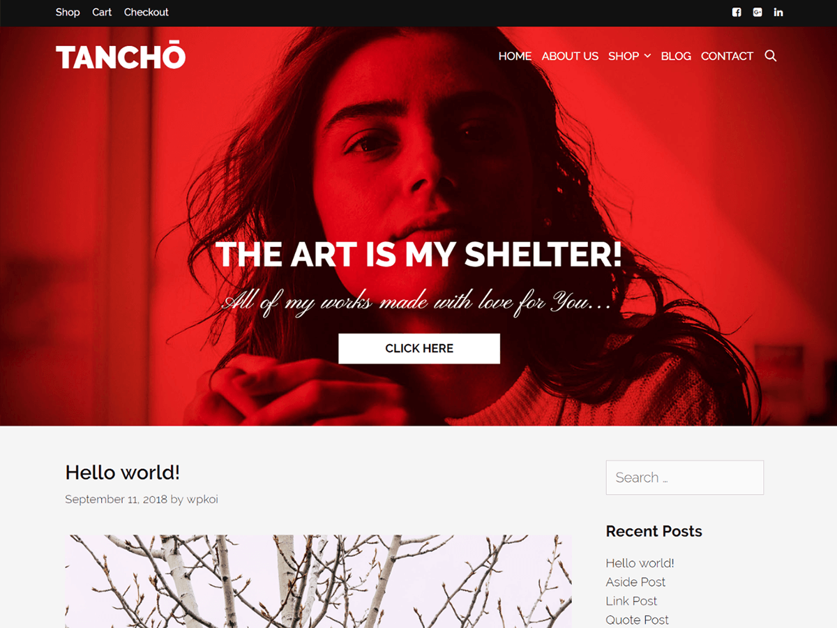 Tancho Preview Wordpress Theme - Rating, Reviews, Preview, Demo & Download
