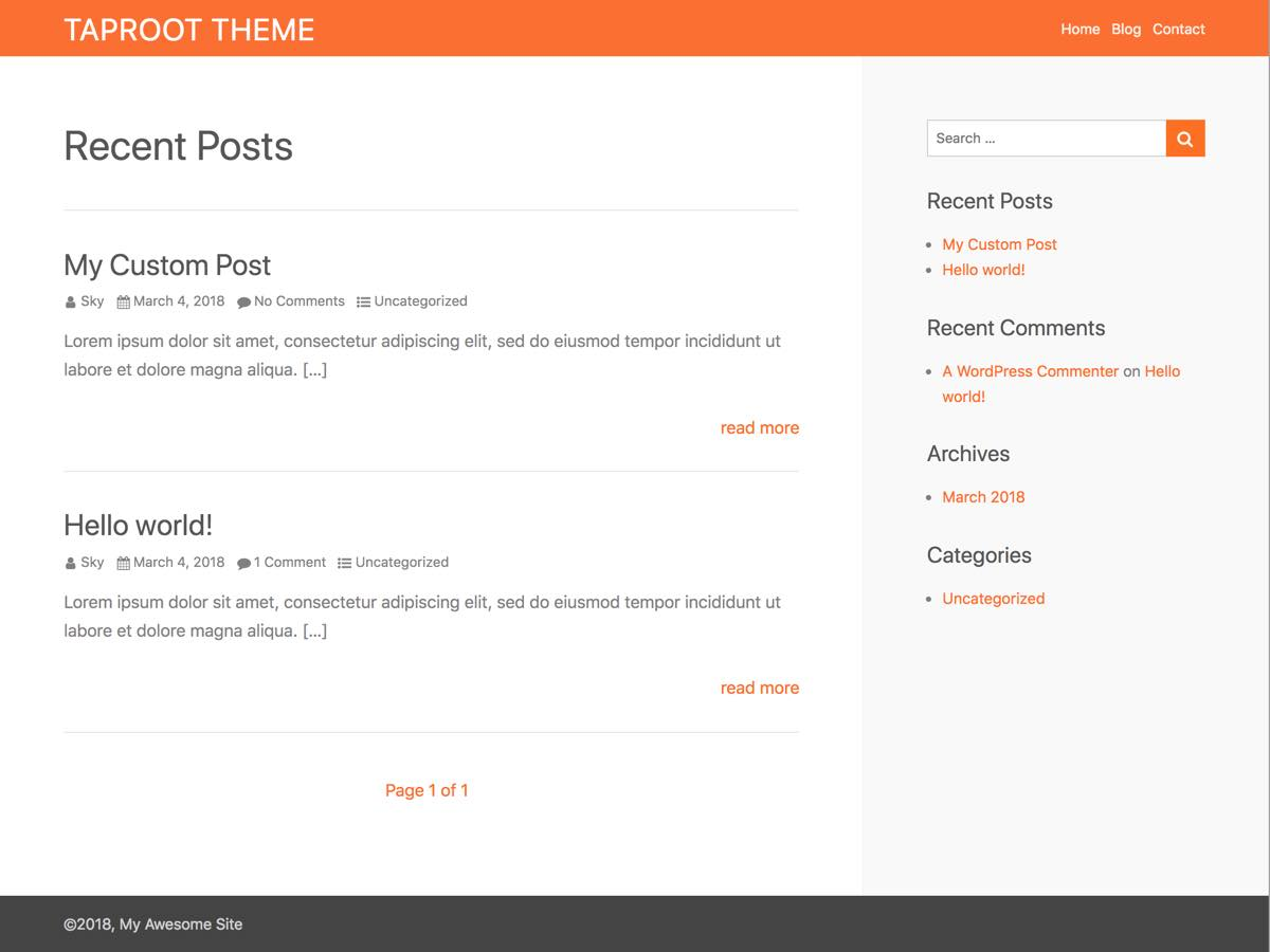 Taproot Preview Wordpress Theme - Rating, Reviews, Preview, Demo & Download