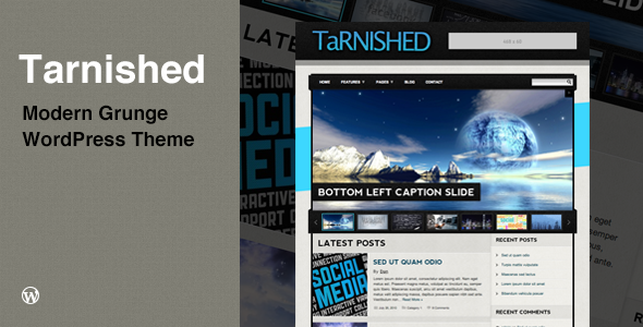 Tarnished Preview Wordpress Theme - Rating, Reviews, Preview, Demo & Download