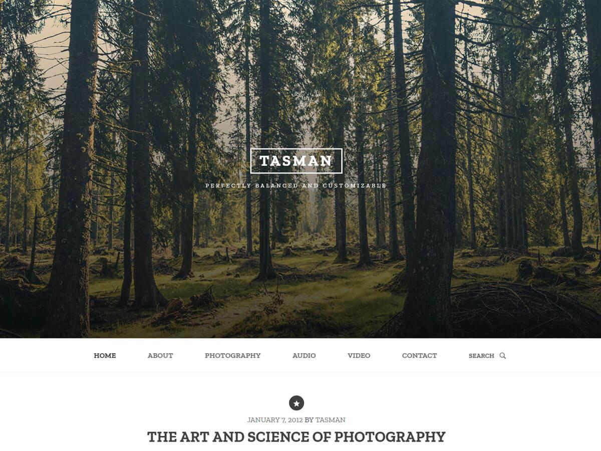 Tasman Preview Wordpress Theme - Rating, Reviews, Preview, Demo & Download