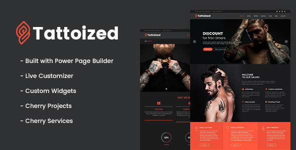Tattoized Preview Wordpress Theme - Rating, Reviews, Preview, Demo & Download