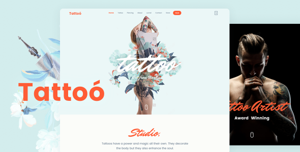 Tattoo Shop Preview Wordpress Theme - Rating, Reviews, Preview, Demo & Download