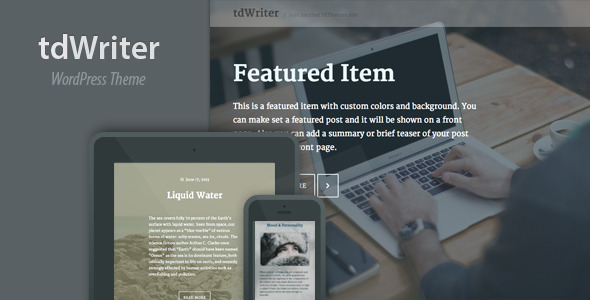 TdWriter Preview Wordpress Theme - Rating, Reviews, Preview, Demo & Download
