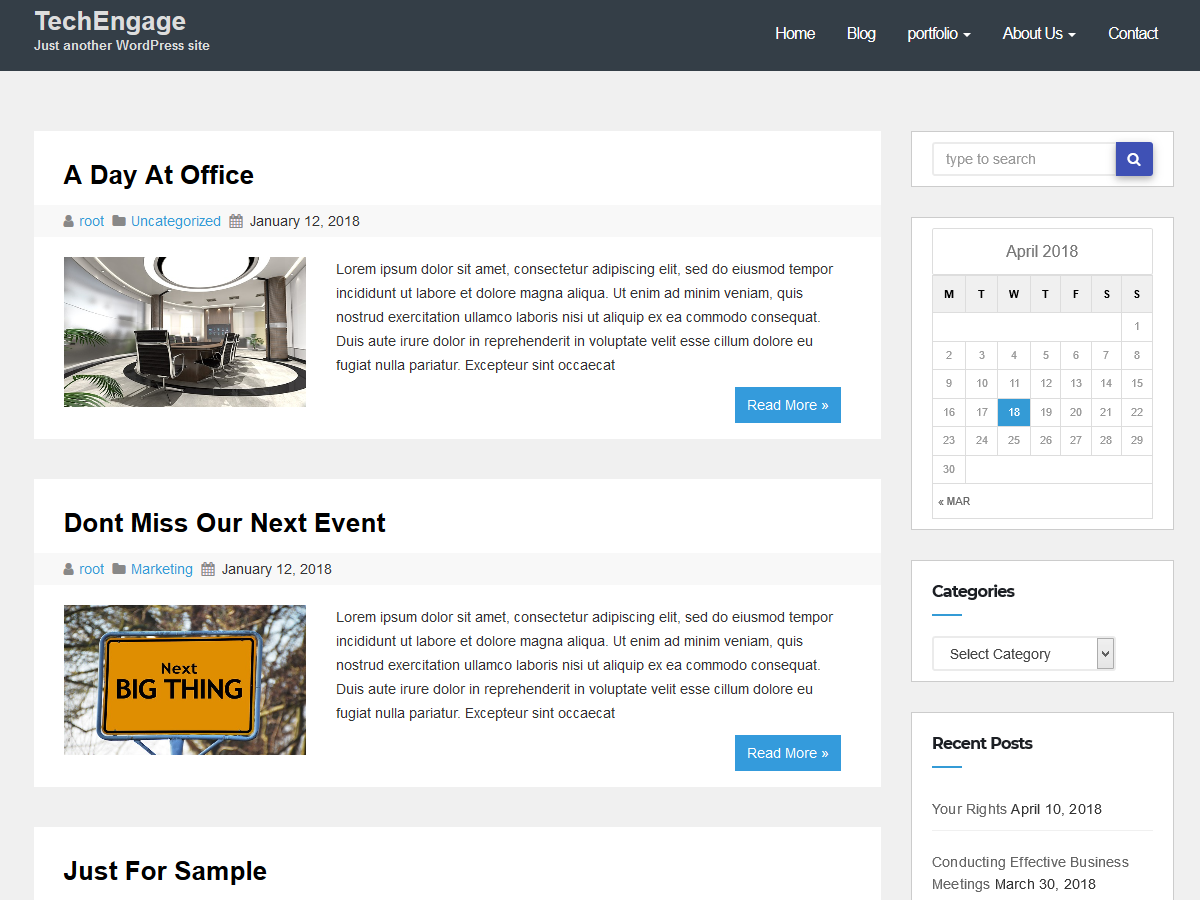 Techengage Preview Wordpress Theme - Rating, Reviews, Preview, Demo & Download