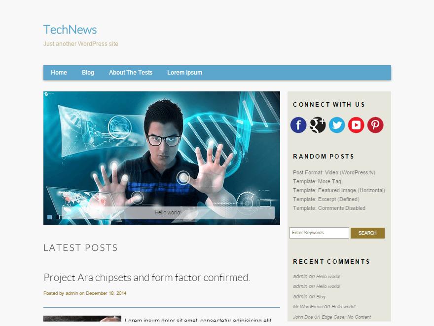 TechNews Preview Wordpress Theme - Rating, Reviews, Preview, Demo & Download