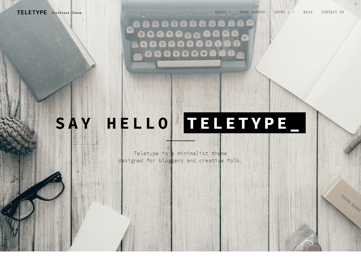 Teletype Preview Wordpress Theme - Rating, Reviews, Preview, Demo & Download
