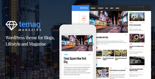 Temag Magazine Preview Wordpress Theme - Rating, Reviews, Preview, Demo & Download