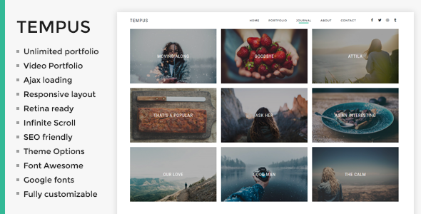 Tempus Preview Wordpress Theme - Rating, Reviews, Preview, Demo & Download