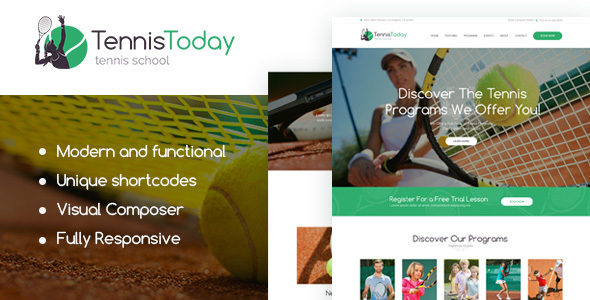 Tennis Today Preview Wordpress Theme - Rating, Reviews, Preview, Demo & Download