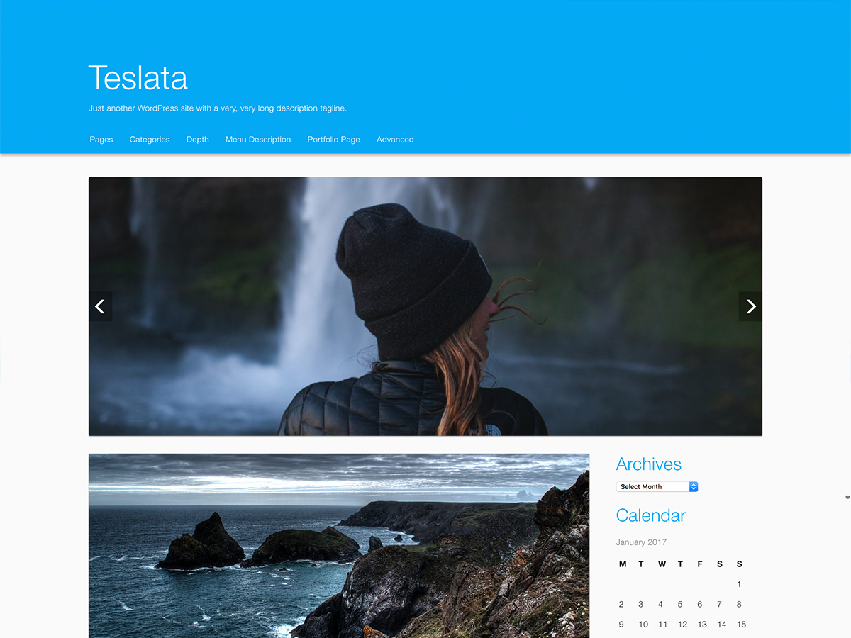 Teslata Preview Wordpress Theme - Rating, Reviews, Preview, Demo & Download