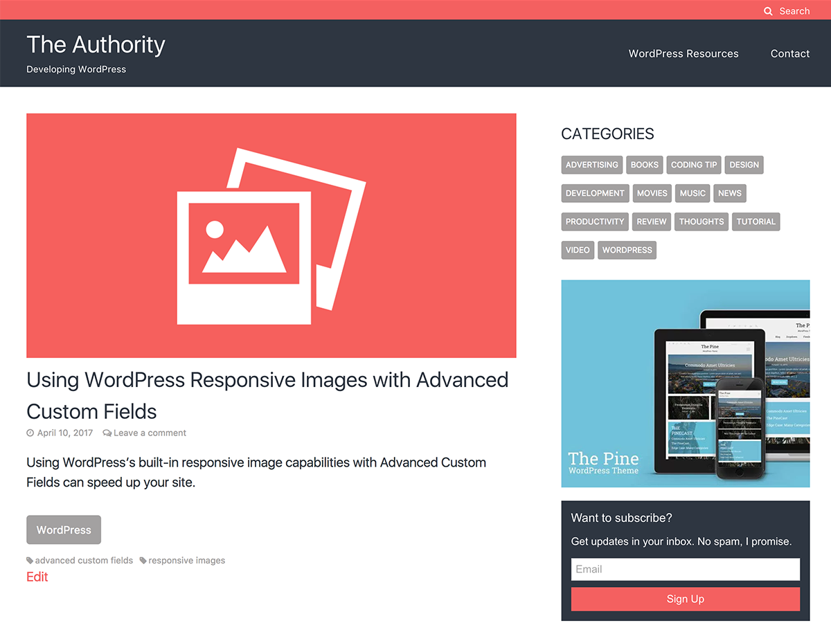 The Authority Preview Wordpress Theme - Rating, Reviews, Preview, Demo & Download