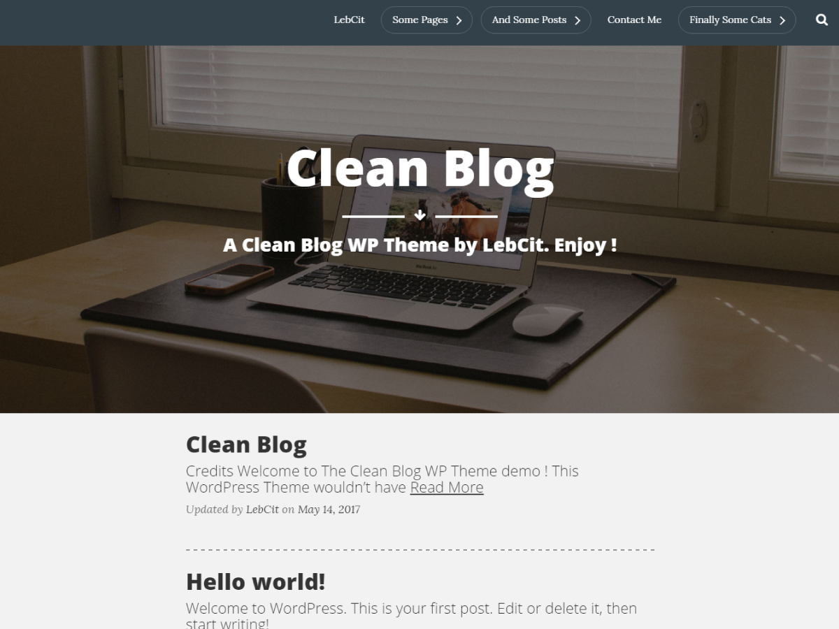 The Clean Preview Wordpress Theme - Rating, Reviews, Preview, Demo & Download