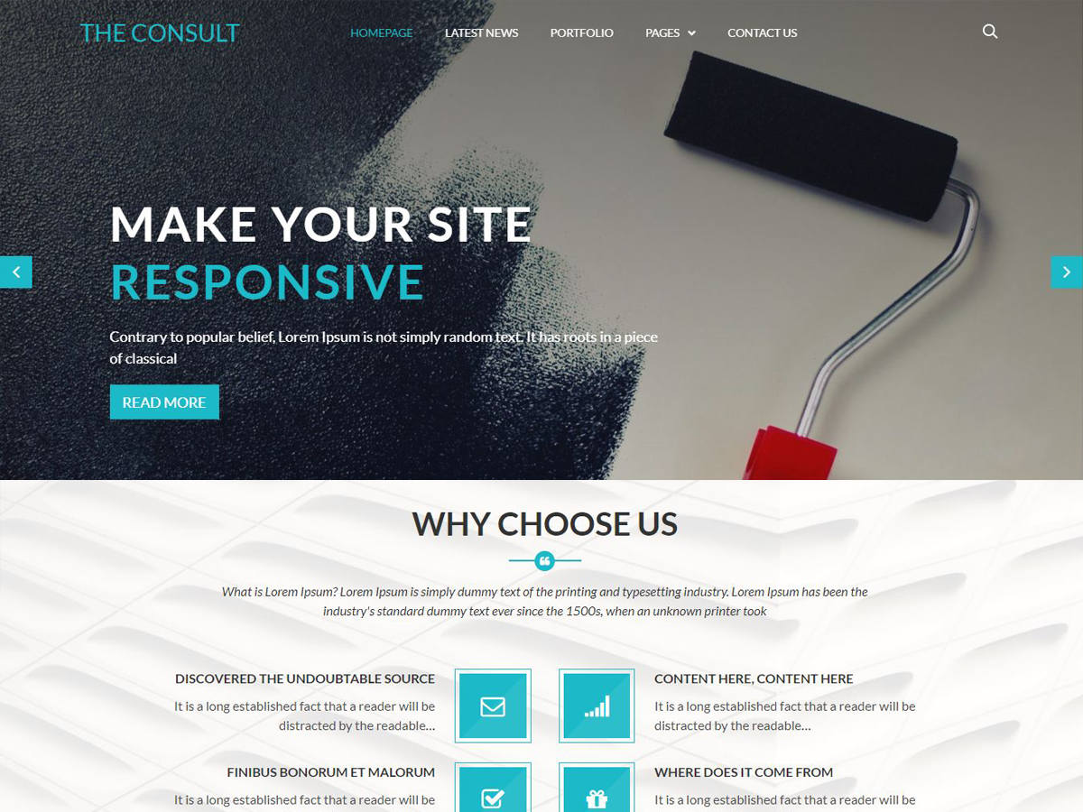 The Consult Preview Wordpress Theme - Rating, Reviews, Preview, Demo & Download