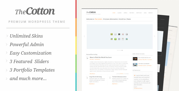 The Cotton Preview Wordpress Theme - Rating, Reviews, Preview, Demo & Download