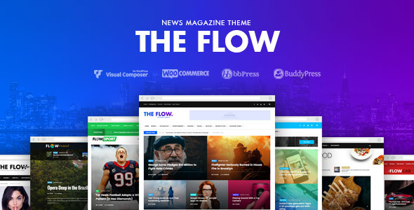 The Flow Preview Wordpress Theme - Rating, Reviews, Preview, Demo & Download