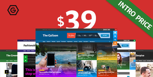 The Galison Preview Wordpress Theme - Rating, Reviews, Preview, Demo & Download