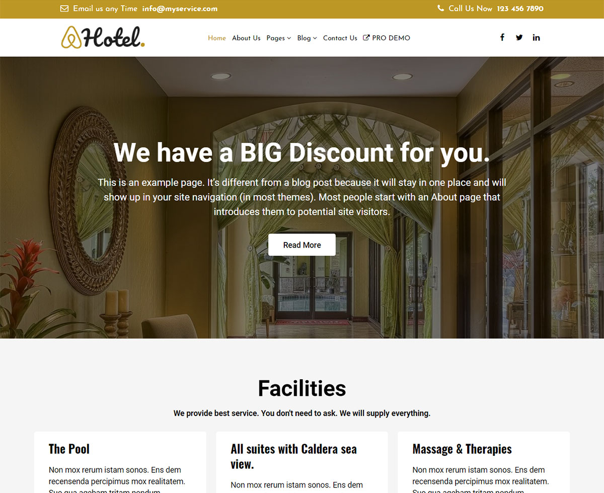 The Hotel Preview Wordpress Theme - Rating, Reviews, Preview, Demo & Download