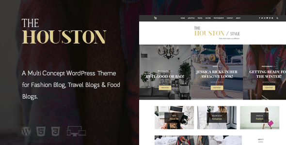 The Houston Preview Wordpress Theme - Rating, Reviews, Preview, Demo & Download