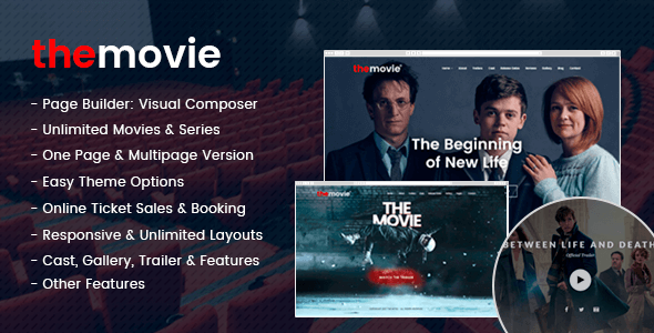 The Movie Preview Wordpress Theme - Rating, Reviews, Preview, Demo & Download