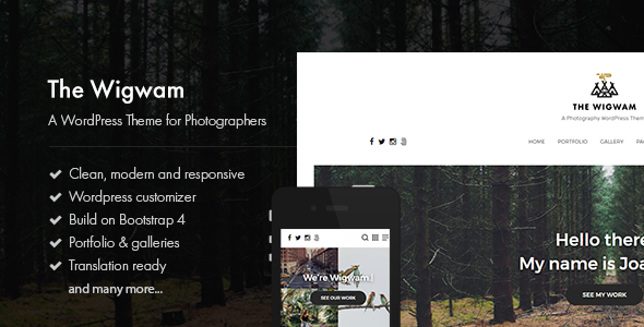 The Wigwam Preview Wordpress Theme - Rating, Reviews, Preview, Demo & Download