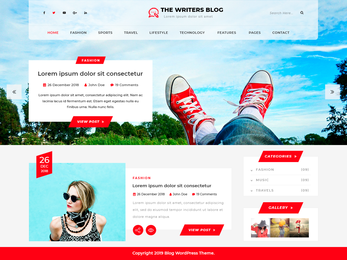 The Writers Preview Wordpress Theme - Rating, Reviews, Preview, Demo & Download