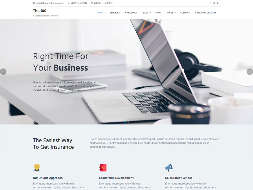 The100 Preview Wordpress Theme - Rating, Reviews, Preview, Demo & Download