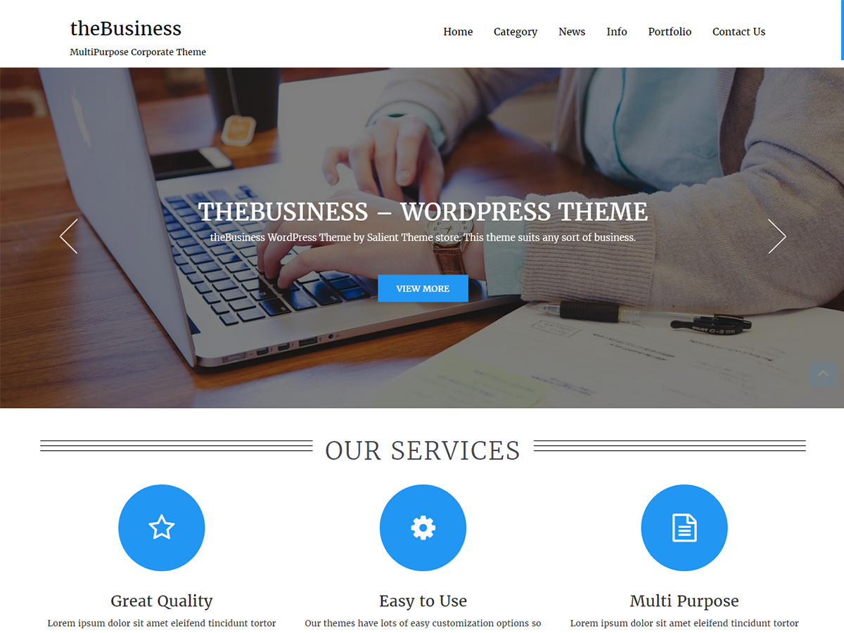 TheBusiness Preview Wordpress Theme - Rating, Reviews, Preview, Demo & Download