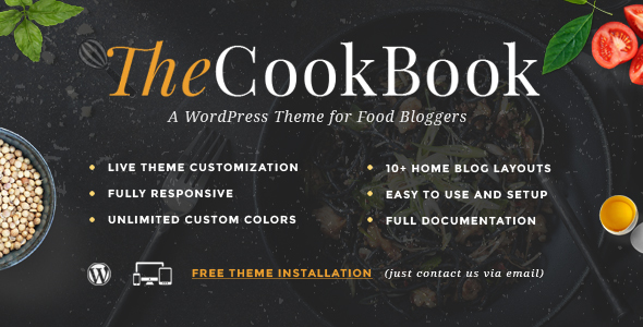 TheCookBook Preview Wordpress Theme - Rating, Reviews, Preview, Demo & Download