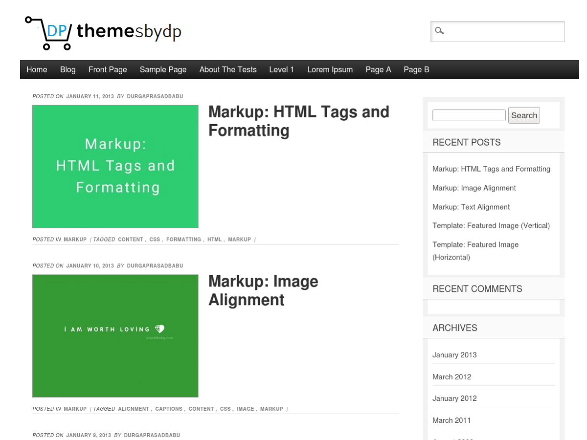 Themesbydp Preview Wordpress Theme - Rating, Reviews, Preview, Demo & Download