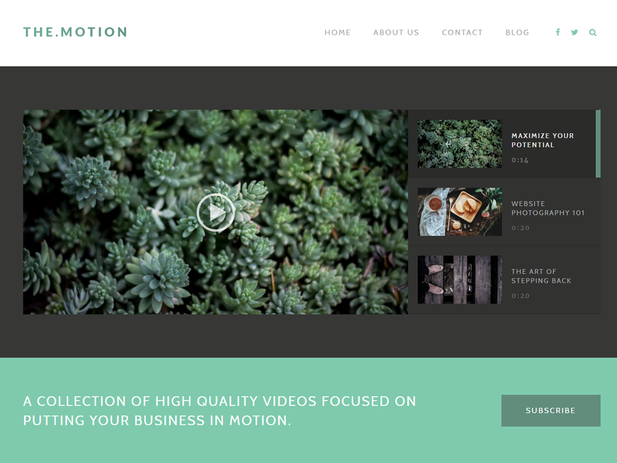 TheMotion Lite Preview Wordpress Theme - Rating, Reviews, Preview, Demo & Download