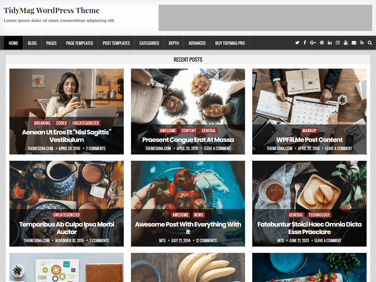 TidyMag Preview Wordpress Theme - Rating, Reviews, Preview, Demo & Download
