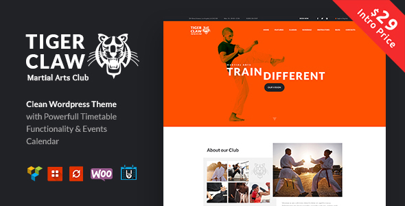 Tiger Claw Preview Wordpress Theme - Rating, Reviews, Preview, Demo & Download