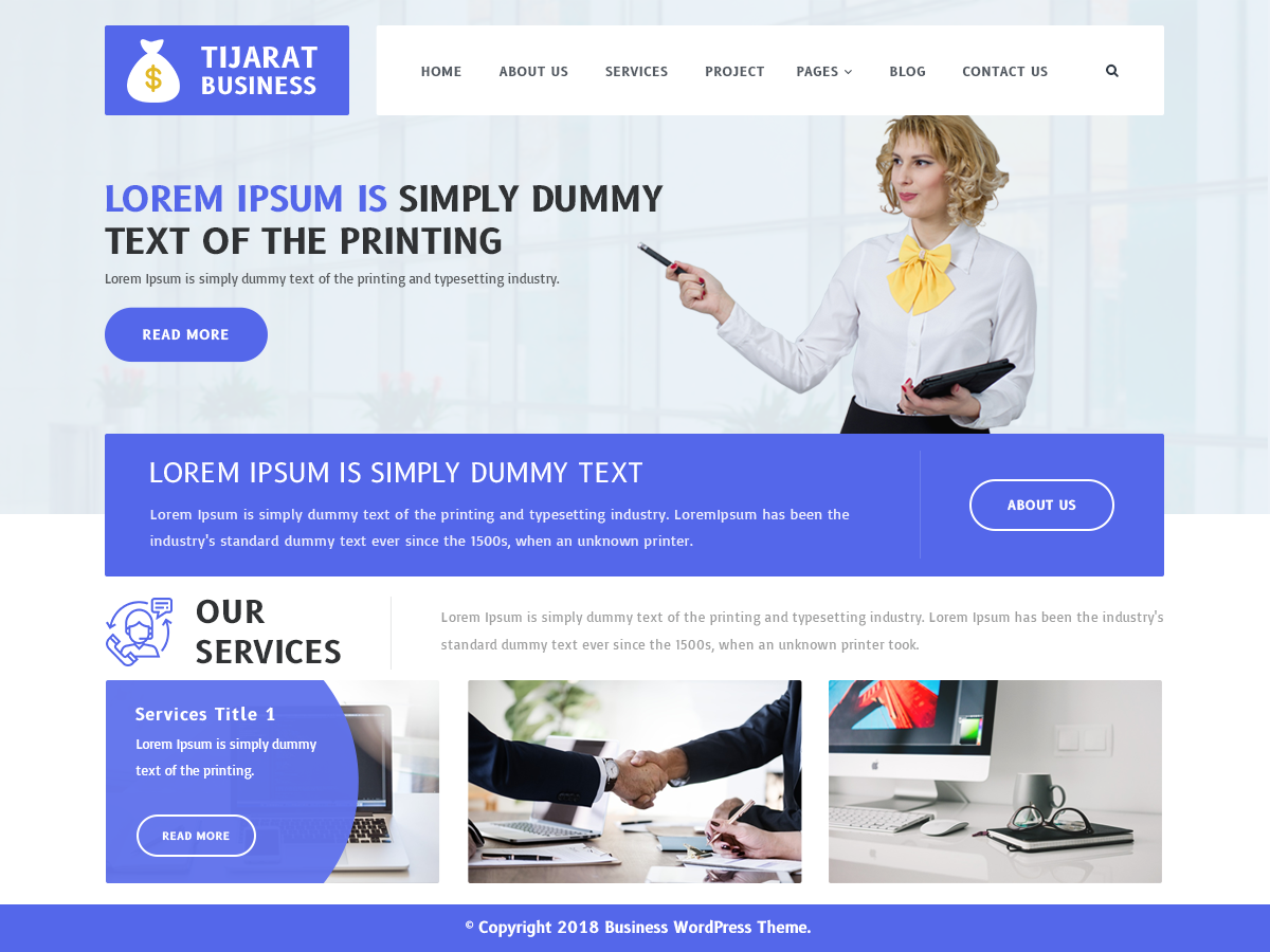 Tijarat Business Preview Wordpress Theme - Rating, Reviews, Preview, Demo & Download