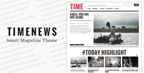 TimeNews Preview Wordpress Theme - Rating, Reviews, Preview, Demo & Download