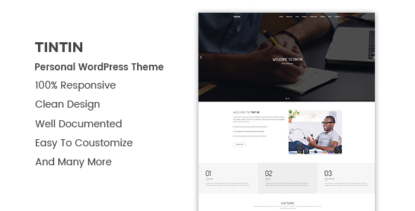 Tintin Preview Wordpress Theme - Rating, Reviews, Preview, Demo & Download