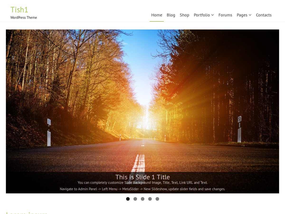 Tish1 Preview Wordpress Theme - Rating, Reviews, Preview, Demo & Download