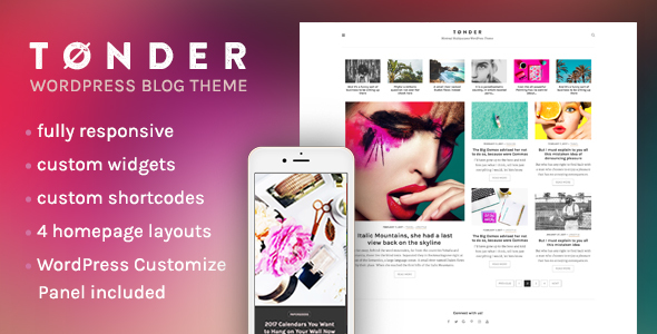 Tonder Preview Wordpress Theme - Rating, Reviews, Preview, Demo & Download