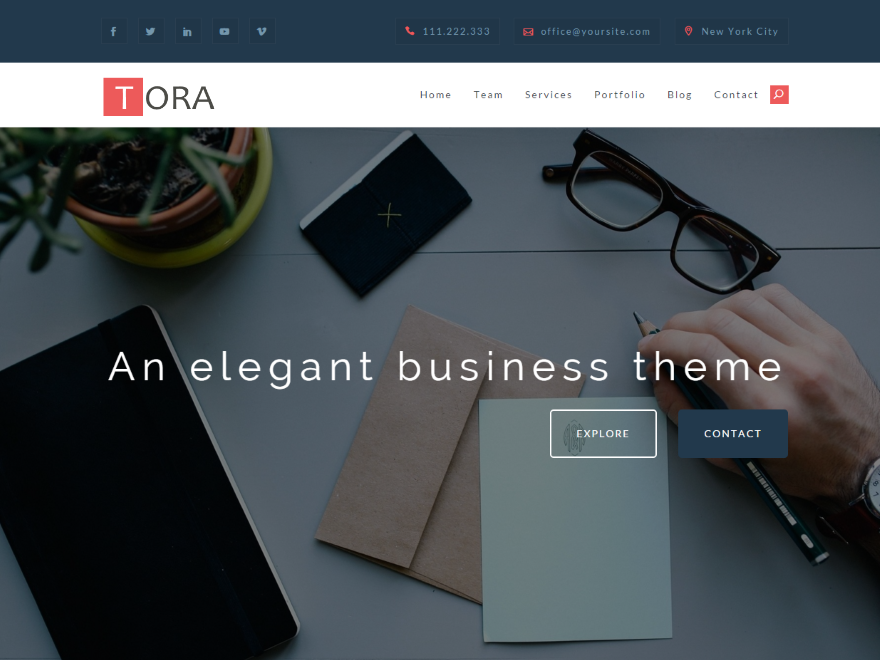 Tora Preview Wordpress Theme - Rating, Reviews, Preview, Demo & Download