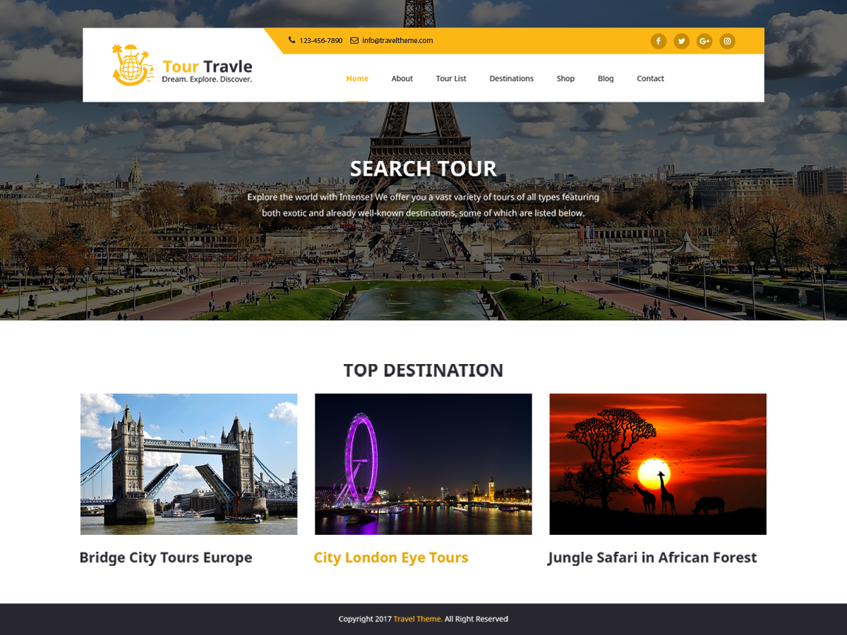 Tours And Preview Wordpress Theme - Rating, Reviews, Preview, Demo & Download