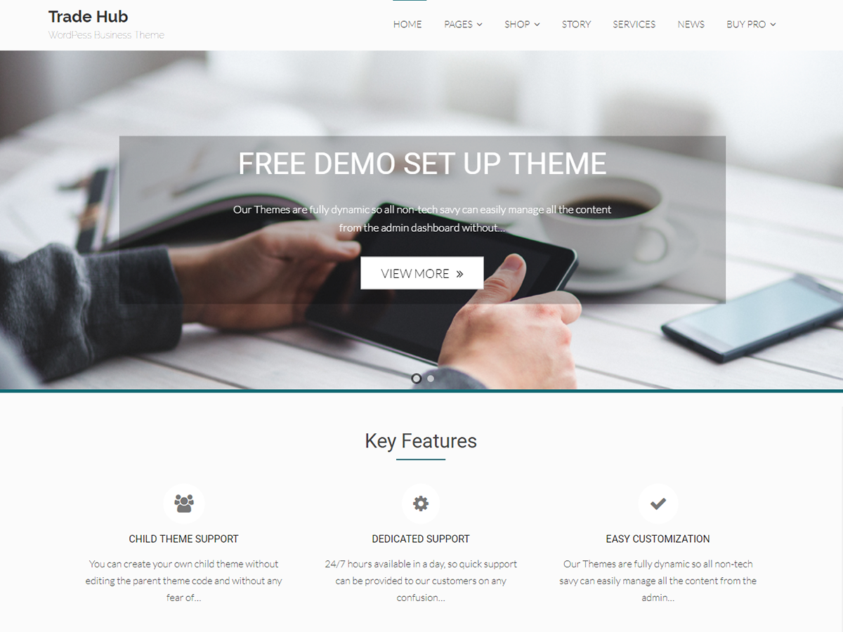 Trade Hub Preview Wordpress Theme - Rating, Reviews, Preview, Demo & Download
