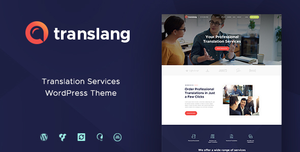 Translang Preview Wordpress Theme - Rating, Reviews, Preview, Demo & Download
