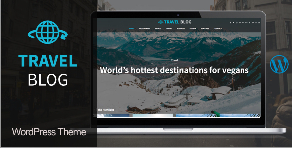 Travel Blog Preview Wordpress Theme - Rating, Reviews, Preview, Demo & Download