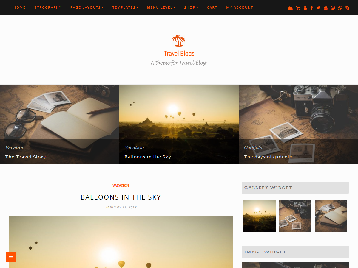 Travel Blogs Preview Wordpress Theme - Rating, Reviews, Preview, Demo & Download