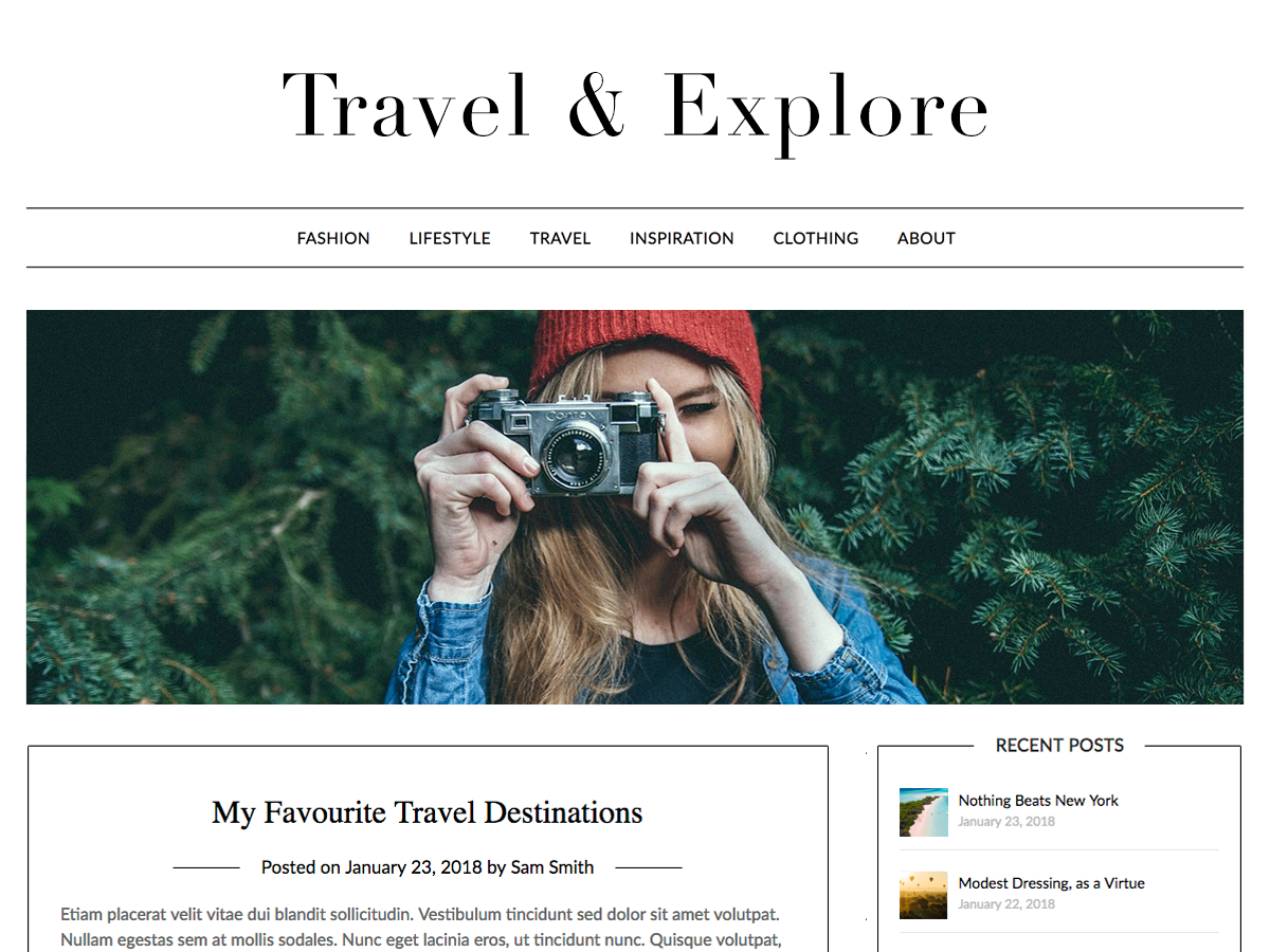 Travel Minimalist Preview Wordpress Theme - Rating, Reviews, Preview, Demo & Download