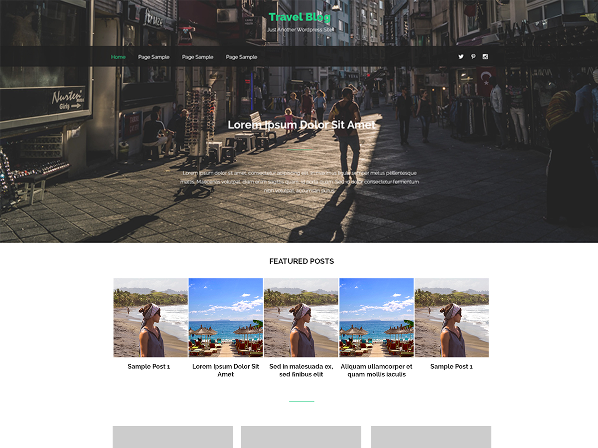 Travel Notes Preview Wordpress Theme - Rating, Reviews, Preview, Demo & Download