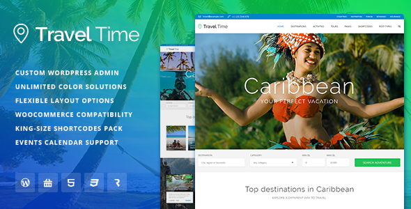 Travel Time Preview Wordpress Theme - Rating, Reviews, Preview, Demo & Download
