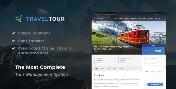 Travel Tour Preview Wordpress Theme - Rating, Reviews, Preview, Demo & Download