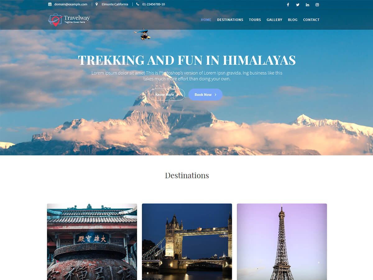 Travel Way Preview Wordpress Theme - Rating, Reviews, Preview, Demo & Download